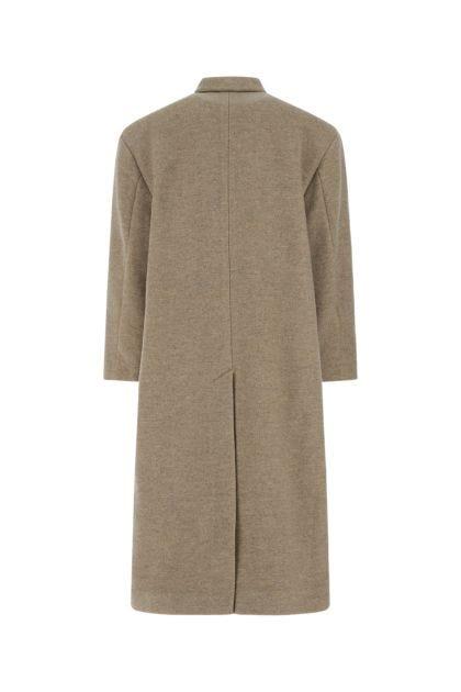 Melange cappuccino wool blend Lojima coat