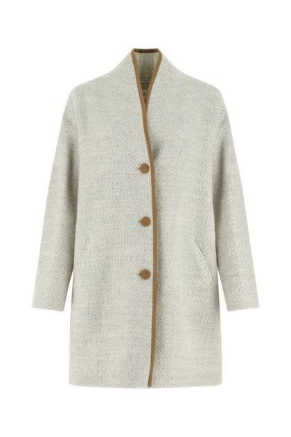 Melange ivory wool Jelanyo coat