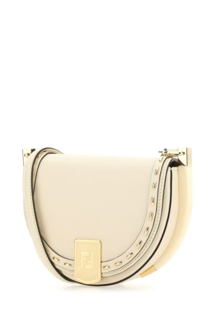Ivory leather Moonlight crossbody bag