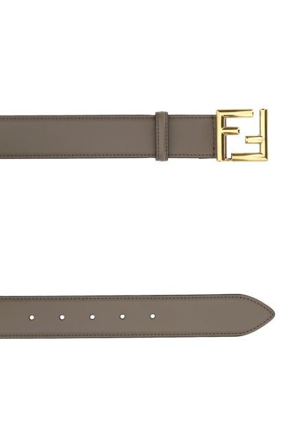 Dove grey leather belt