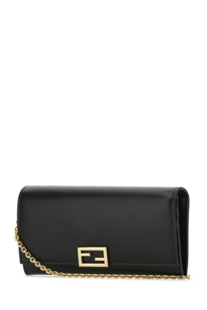Black leather Fendi Way clutch