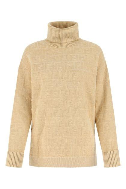 Beige viscose blend sweater