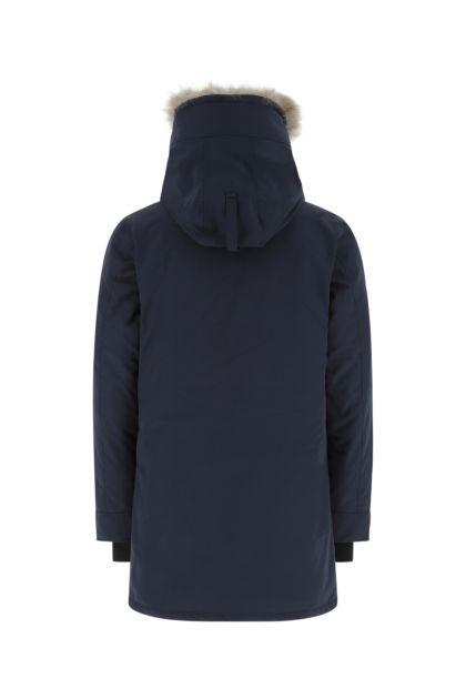 Dark blue polyester blend Langford down jacket