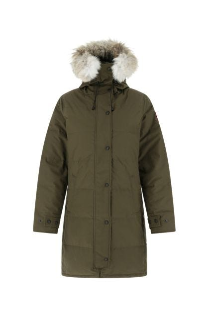 Army green polyester blend Shelburne down jacket