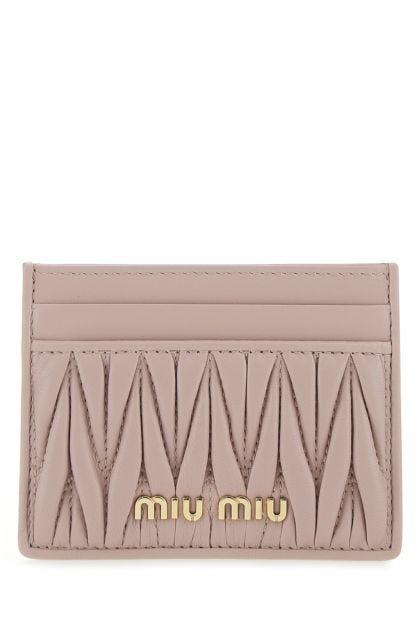 Powder pink nappa leather card holder