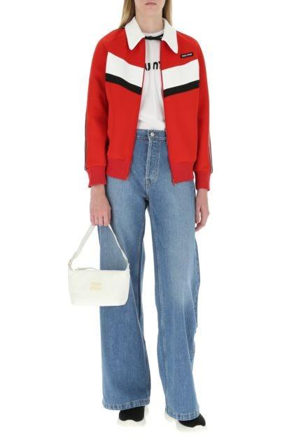White terry fabric mini Miu Spirit handbag