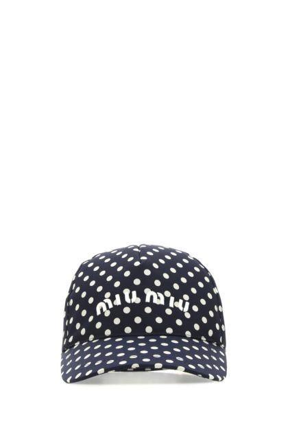 Printed silk baseball cap