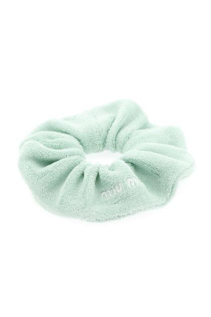 Sea green terry scrunchie