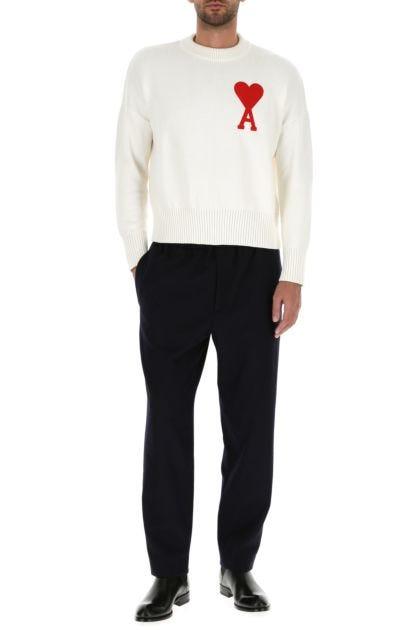 White cotton blend sweater