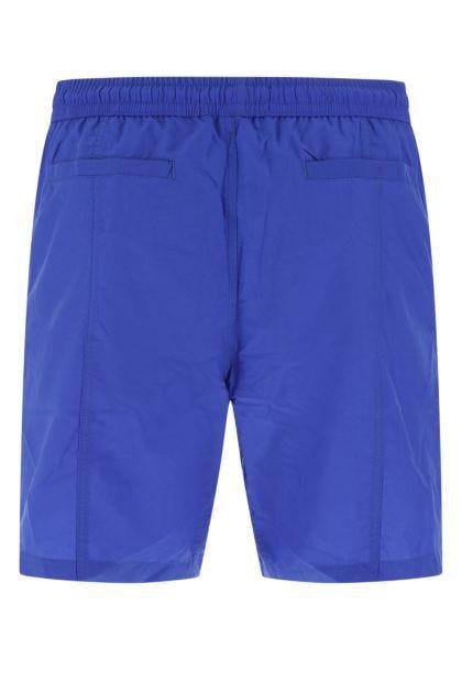 Electric blue nylon swimming shorts