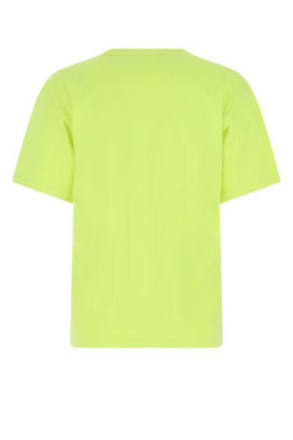 Fluo yellow cotton t-shirt