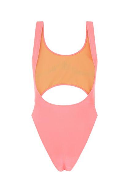 Salmon stretch nylon swimsuit