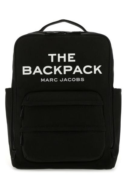 Black cotton The Backpack backpack