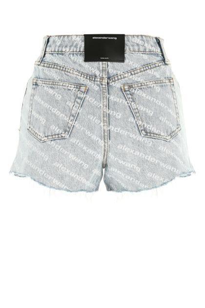 Printed denim Bite shorts