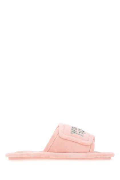 Pink chenille Lana slippers