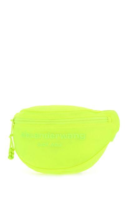 Fluo yellow nylon belt bag