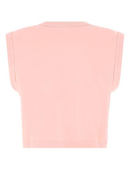 Pink cotton tank top