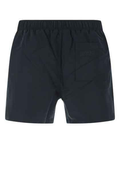 Midnight blue polyester swimming shorts
