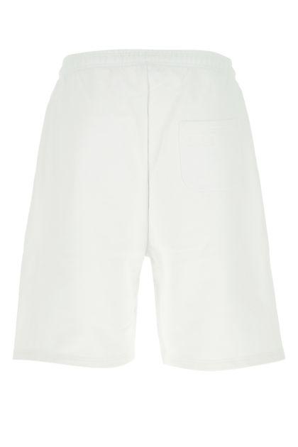 White cotton blend bermuda shorts