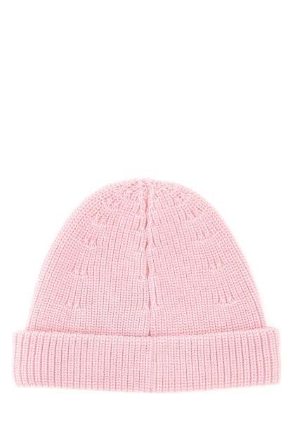 Pink wool beanie