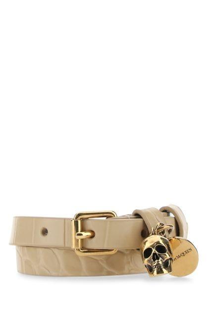 Cappuccino leather bracelet