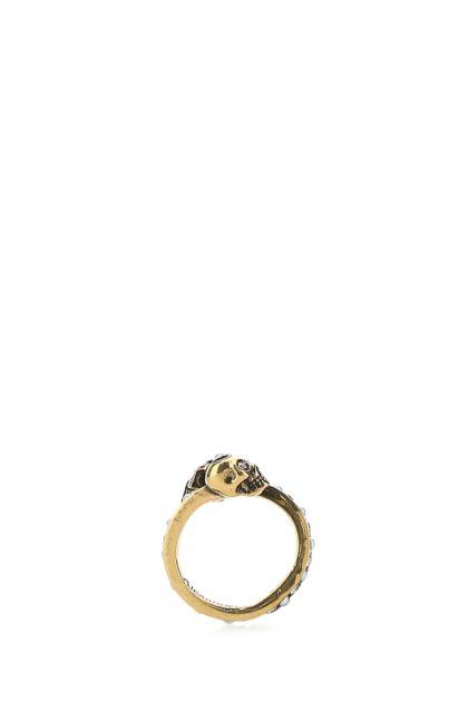 Gold metal Skull ring