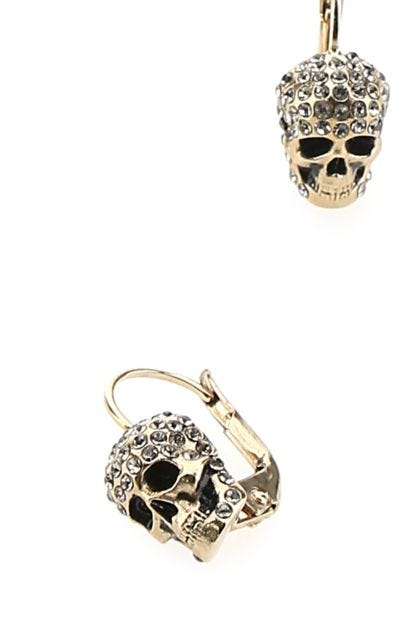 Gold metal Skull earrings