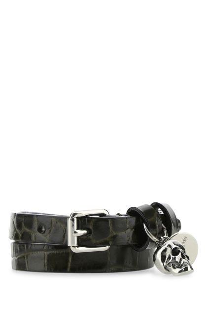 Mud leather bracelet