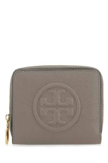 Dove grey leather Perry wallet