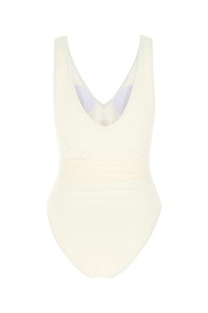 Ivory stretch nylon swimsuit