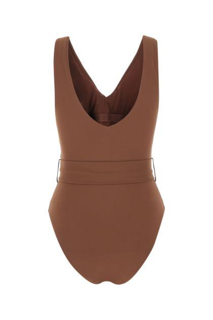 Brown stretch nylon swimsuit