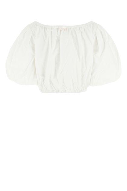 White poplin top