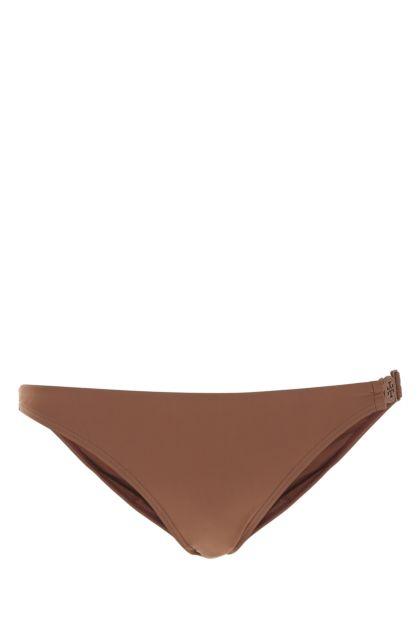 Brown stretch nylon bikini bottom
