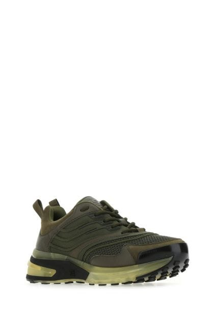 Army green fabric and leather GIV 1 sneakers