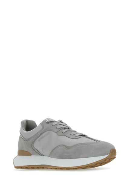 Grey suede and nylon Givenchy Runner sneakers
