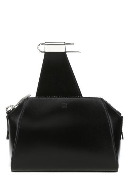 Black leather small Antigona crossbody bag
