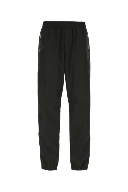 Embroidered nylon joggers