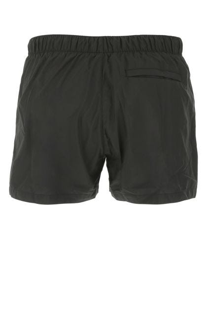 Black polyester swimming shorts