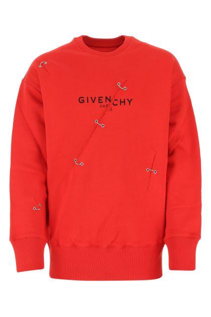 Red cotton sweatshirt