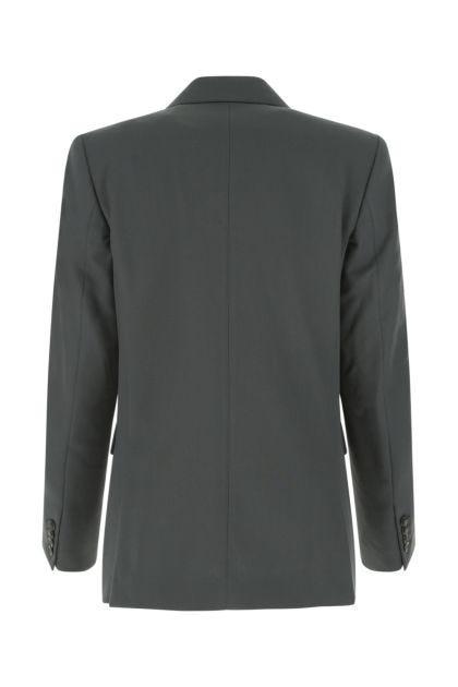 Graphite polyester blend blazer