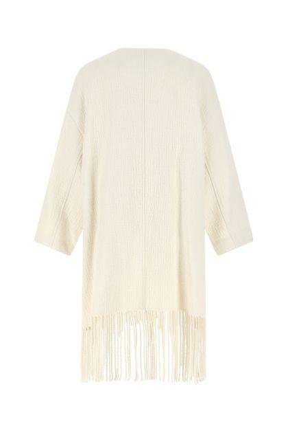 Ivory wool blend coat