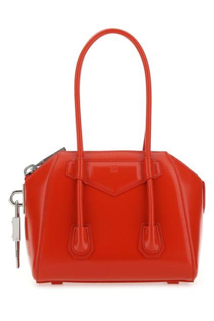 Red leather mini Antigona handbag