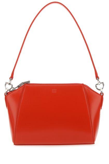 Red leather XS Antigona handbag