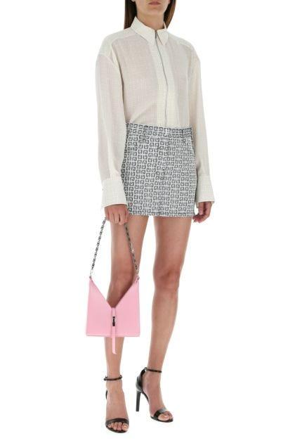 Pink leather mini Cut Out shoulder bag