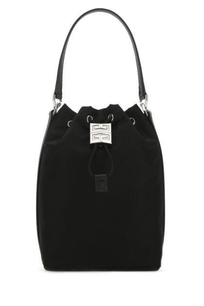 Black nylon blend 4G Light bucket bag