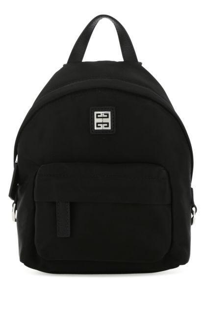 Black nylon blend 4G backpack