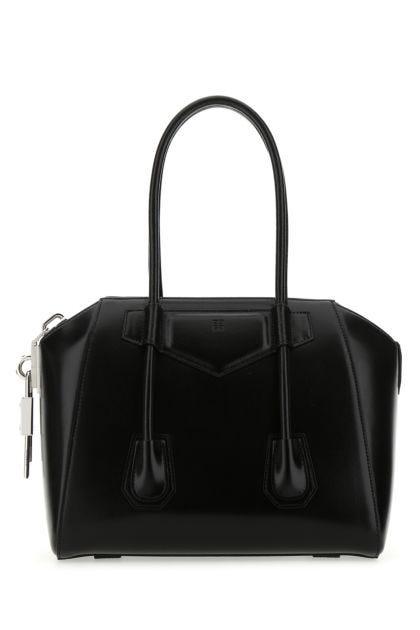 Black leather small Antigona handbag