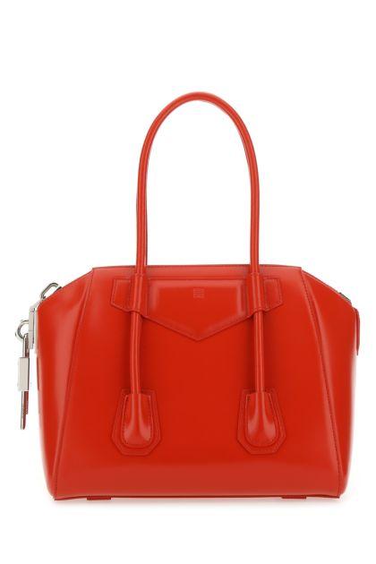 Red leather small Antigona handbag