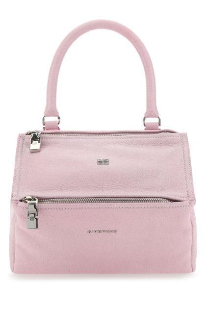 Pastel pink leather small Pandora handbag