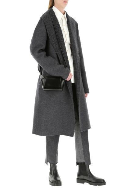 Black leather nano Antigona crossbody bag